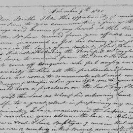 Theodore's 1837 Letter to Isaac Russell