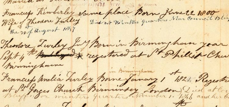 Setting the Record Straight: Frances Kimberley vs. Frances Amelia Kimberley