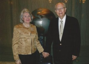 Picture of Richard E. Turley, Sr., with wife Ana-Maria Garces Turley